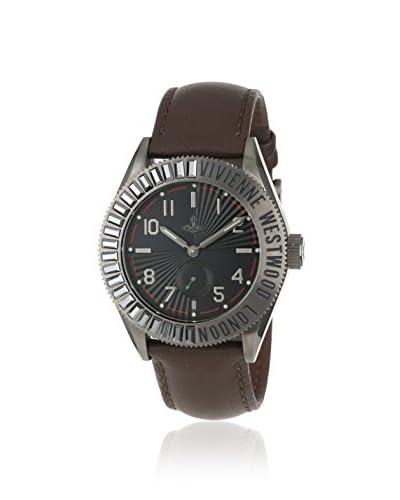 Vivienne Westwood Men's VV007CHBR Saville Brown/Black Leather Watch