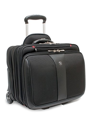 Wenger-600662-PATRIOT-17-2-Piece-Business-Wheeled-Laptop-Briefcase-Padded-laptop-compartment-with-Matching-154-Laptop-Case-in-Black-38-Litres