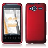 Red Rubberized Hard Phone Cover for HTC EVO Shift 4G