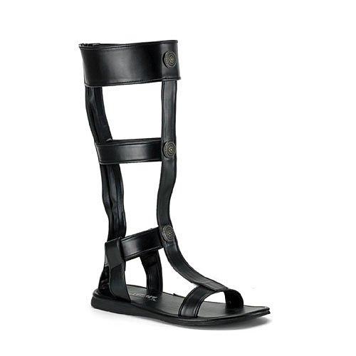 Roman-16 Sandal, Black Pu, Size X-Large(14/15)