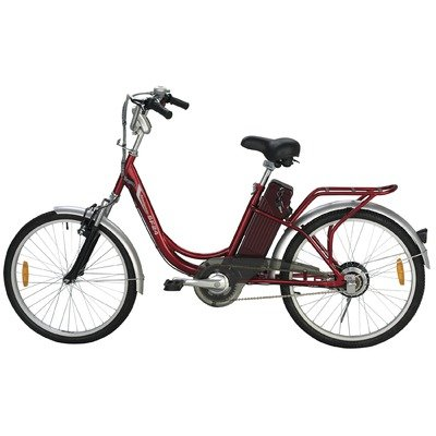 Buy Low Price Yukon Trails Women's Navigator Urban Street Electric Bike (24-Inch) (MS-EBLAF24)