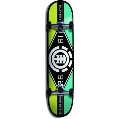 element-complete-skateboard-major-league-black-red-size-775