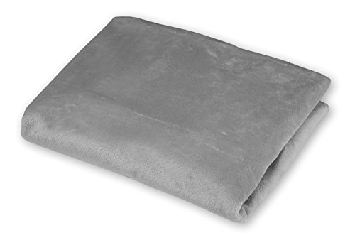 American Baby Company Heavenly Soft Chenille Fitted Contoured Changing Pad Cover, Gray
