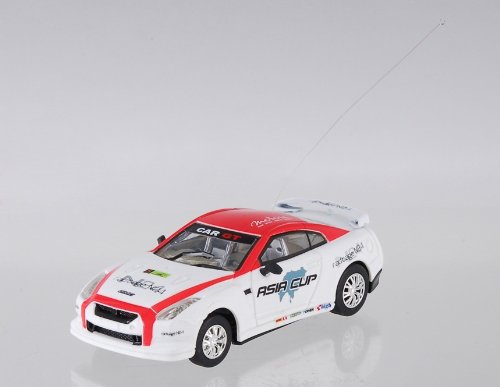 Create Toys 8686 2 Channel RC Race Car with LED Flashing Light (White)