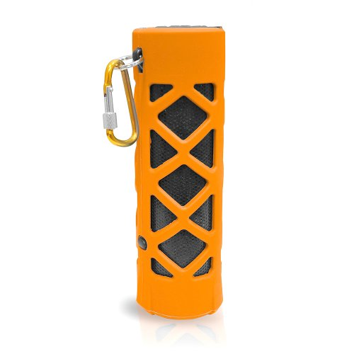 Pyle Pwpbt30Or Bluetooth Water Resistant Flashlight Speaker With Call Answering Mic, Fm Radio, Micro Sd Reader And Aux-Input (Orange)