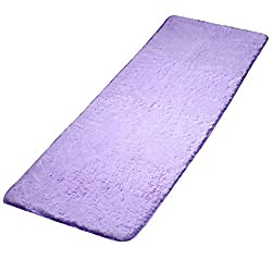 Thaibestus Super Soft Modern Shag Area Rugs Living Room Carpet Bedroom Rug - Purple 60cm by 160cm