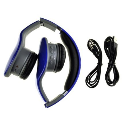 99 Digitals Portable Headset Mp3 Music Player With Fm Radio Tf Card-Blue