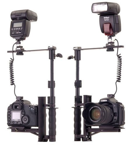 Flip Flash ® Bracket by ALZO Digital, Versatile fast action camera bracket for all DSLR cameras with quick release mount, incl. Canon, Nikon, Sony