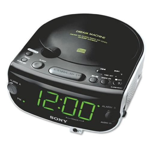 sony icf cd815 am fm stereo cd clock radio with dual alarm reviews radio re. Black Bedroom Furniture Sets. Home Design Ideas