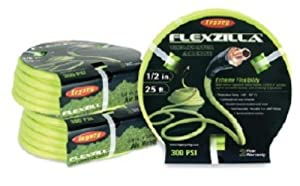 "Legacy Manufacturing HFZ1225YW3 Flexzilla 1/2"" x 25' ZillaGreen Air Hose with 3/8"" MNPT ends and Bend Restrictors by Legacy Manufacturing"