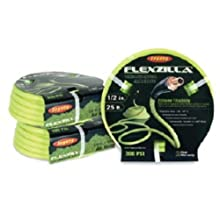 "Legacy Manufacturing HFZ1225YW3 Flexzilla 1/2"" x 25' ZillaGreen Air Hose with 3/8"" MNPT ends and Bend Restrictors"