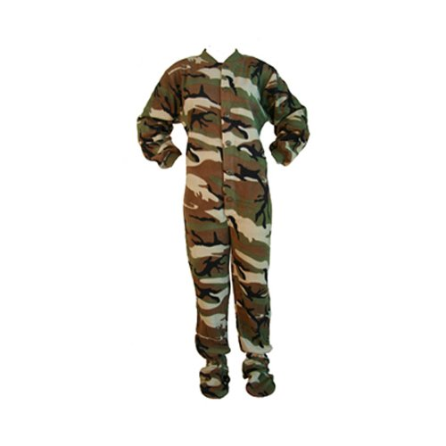 Green Camouflage Kids Onesie (Medium)
