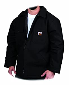 Steiner 16081 30-Inch Chore Coat, Thermal Tuff Quilt Lined, Button, Black, Medium
