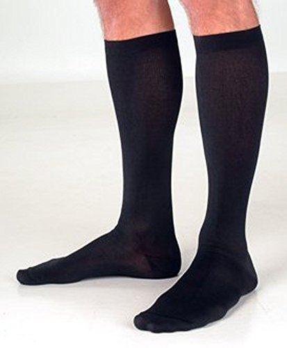 Ames Walker 624 Mild Support Men'S Rayon Premium Sock 8-15Mmhg In Black -Medium