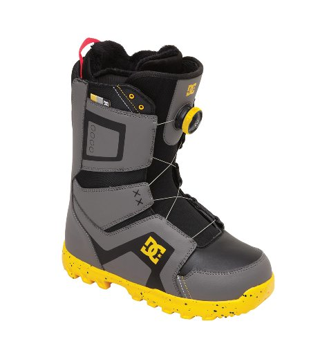 DC Men's Scout Snowboard Boot,Grey/Yellow,11 US/11 M US