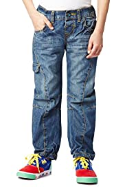 Pure Cotton Adjustable Waist Denim Jeans