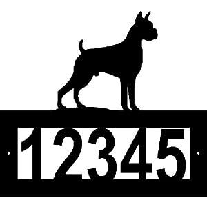 Custom Steel Boxer Address Sign