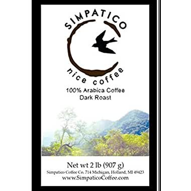 Simpatico Low Acid Whole Bean Dark Roast Coffee