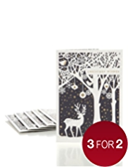 8 Silhouette Scene Luxury Christmas Multipack of Cards