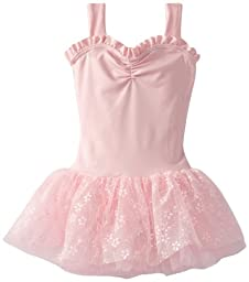Capezio Little Girls\' Sweetheart Tutu Dress, Pink Flower, Medium
