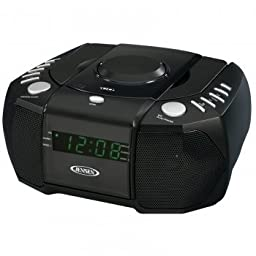 Jensen Dual Alarm Clock Am And Fm Stereo Radio With Top Loading Cd Player by Jensen