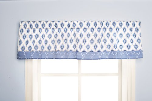 Dena Indigo Window Valance, Blue/White (Discontinued by Manufacturer) - 1