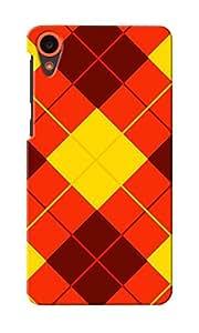 CimaCase Argyle Designer 3D Printed Case Cover For HTC Desire 820