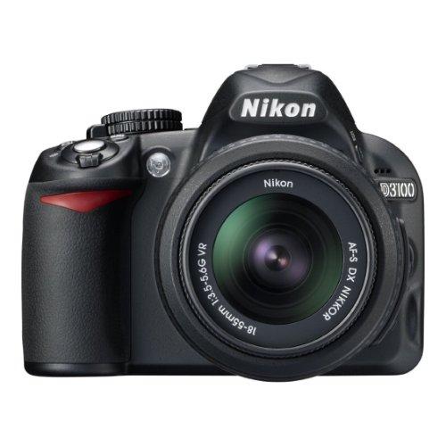 Nikon-D3100-142MP-Digital-SLR-Camera-Black-with-AF-S-18-55mm-Nikkor-VR-Kit-Lens-8GB-Card-and-Camera-Bag