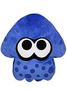 スプラトゥーン イカ クッション 高さ35cm ブルー