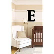 Munch Oversized Black Wood Letters, E