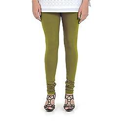 Vami Cotton Churidar Leggings in Grass Hopper Green Color _VM1001(66)