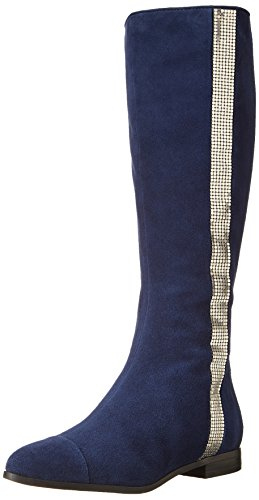 Nine West Women'S Officier Motorcycle Boot,Navy,8 M Us