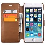 OCASE iPhone6s ケース / iPhone6 ケース「無料の強化ガラス保護フィルム付き」 手帳型 マグネット式 カード収納 ポケットホルダー付き スタンド機能付き 永久保証 ブラウン