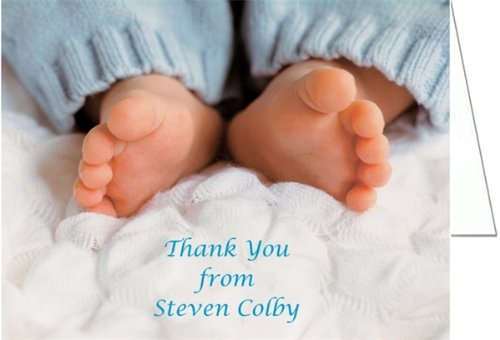 Blue Toes Baby Shower Thank You Cards - Set Of 20 front-1046675