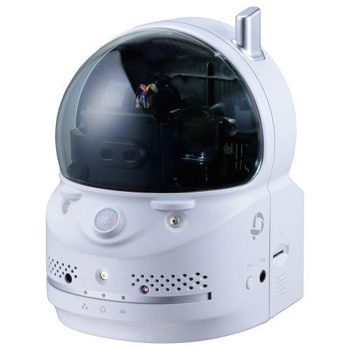 PLANEX カメラ一発! 無線ネットワークカメラ パン・チルト(遠隔操作)/100万画素/暗視撮影/人体感知/温度計 CS-W70HD iPhone・iPad・Android・Windows対応