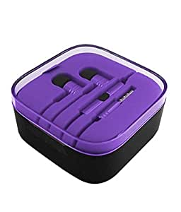 High quality 3.5mm Earphone Headphone Headset Hands Free For MICROMAX CANVAS XPRESS 2 PURPLE