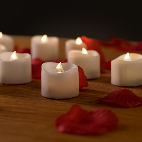 decorative led powered tea lights w unscented fake rose petals bulk. Black Bedroom Furniture Sets. Home Design Ideas