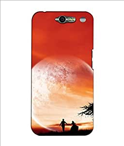 Crazymonk Premium Digital Printed 3D Back Cover For Infocu M812