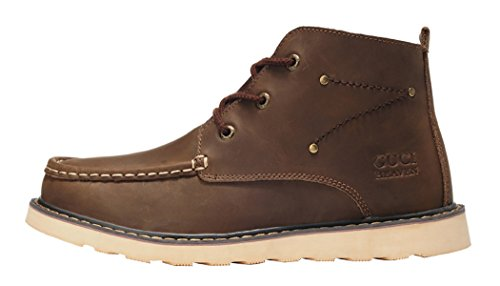Guciheaven Winter Men Caual Leather Thicken Ankle Snow Boots(10 D(M)Us, Coffee)