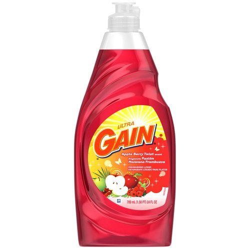 Gain Ultra Dishwashing Liquid, Apple Berry Twist - 24 Fl. Oz. (037000861775)