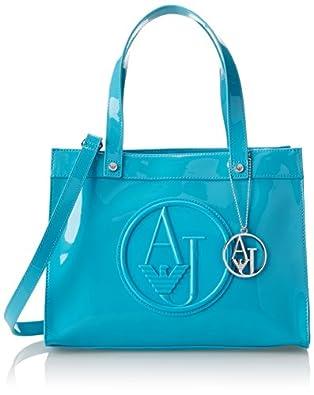 Armani Jeans Women's Rj Shopper, Turquoise, One Size