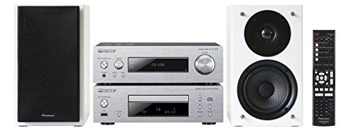 Pioneer P1Hi-Fi W compacto Componentes de Juego (Direct Energy HD endstufen, USB 2.0, 2x 75W, aluminio, 2Vías altavoz frontal con Bass Reflex) Plata/Blanco