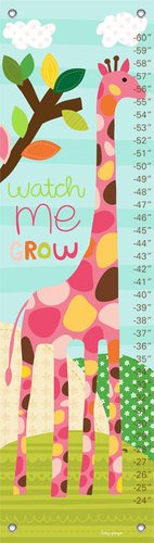 Oopsy Daisy Growth Charts Watch Me Grow Girl by Lesley Grainger, 12 by 42-Inch