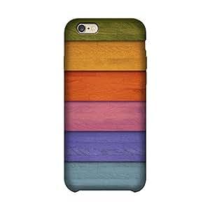 Abhivyakti Pattern Stripes Wooden Colourfull Hard Back Case Cover For Apple Iphone 6/6s