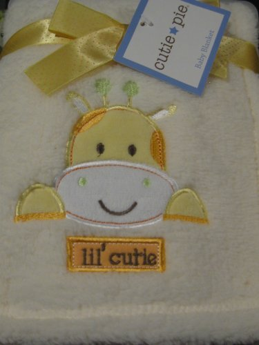 Baby Soft Yellow Giraffe Blanket