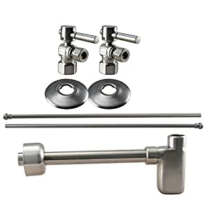 sink installation kit in satin nickel touch on bathroom sink faucets