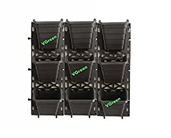 VGreen Garden Black Polypropylene Vertical Garden Planter