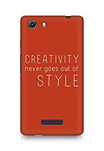 AMEZ creativity never goes out of style Back Cover For Micromax Unite 3