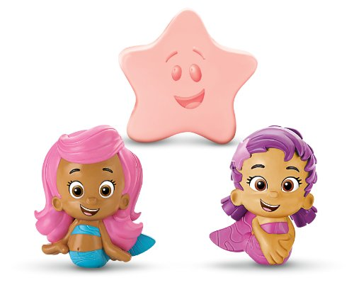 Fisher-Price Nickelodeon Bubble Guppies Molly, Oona, Starfish Bath Squirters - 1