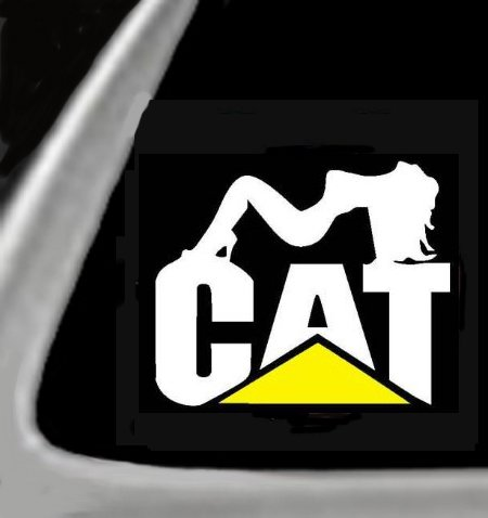 CAT GIRL (Catipellar) Vinyl STICKER / DECAL forCars,Trucks,Etc. 5